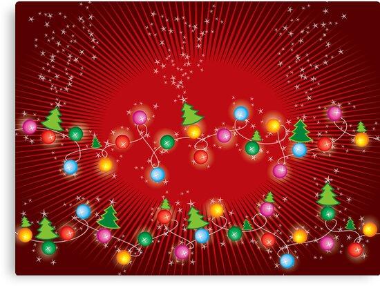 Sparkling Mini X'mas Tree Lights by fatfatin