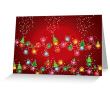 Sparkling Mini X'mas Tree Lights Greeting Card