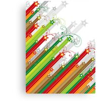 Festive Stars and Stripes Canvas Print