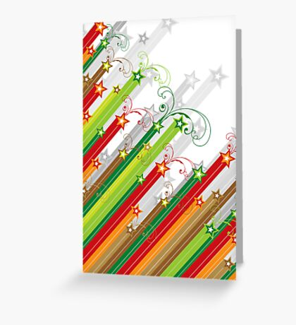 Festive Stars and Stripes Greeting Card