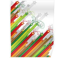 Festive Stars and Stripes Poster