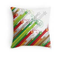 Festive Stars and Stripes Throw Pillow