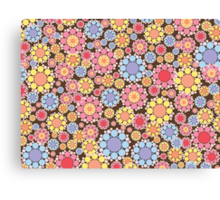 Pastel Snow Flowers Canvas Print