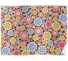 Pastel Snow Flowers Poster