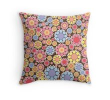 Pastel Snow Flowers Throw Pillow