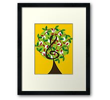 Musical Cherry Notes Tree Framed Print