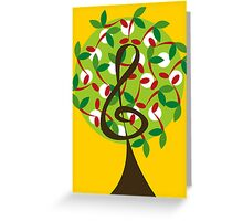Musical Cherry Notes Tree Greeting Card