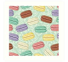 Pastel colored macarons Art Print