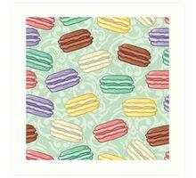 Pastel colored macarons Art Print