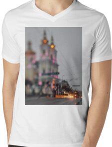 Tram On The Street 2 Mens V-Neck T-Shirt
