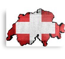 Switzerland Map Flag Metal Print