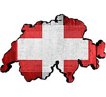 Switzerland Map Flag Photographic Print