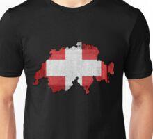 Switzerland Map Flag Unisex T-Shirt