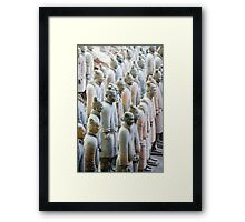 Terracotta Soldiers at attention Framed Print