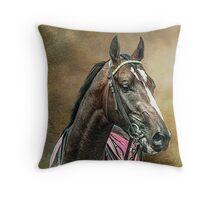 A Racehorse called Venue Throw Pillow