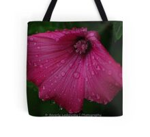 Pretty Pink Flower After a Summer Rain Tote Bag