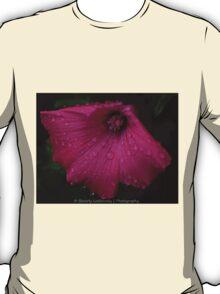 Pretty Pink Flower After a Summer Rain T-Shirt