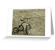 Old Tricycle Greeting Card