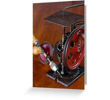 Vintage American Made Woodworking Tools Greeting Card