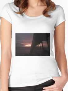 Port Hughes Jetty Women's Fitted Scoop T-Shirt