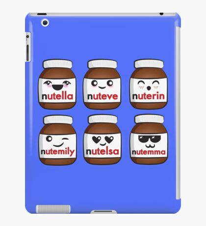 Nutella faces iPad Case/Skin