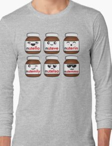 Nutella faces Long Sleeve T-Shirt