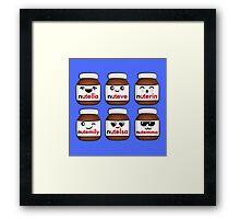 Nutella faces Framed Print