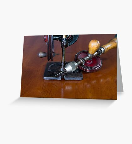 Vintage Manual Hand or Belt Driven Scroll Saw Greeting Card
