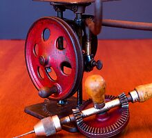 Vintage American Made Woodworking Scroll Saw And Hand Drill by EmeraldRaindrop