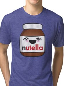 Nutella face 1 Tri-blend T-Shirt