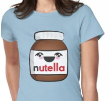 Nutella face 1 Womens Fitted T-Shirt