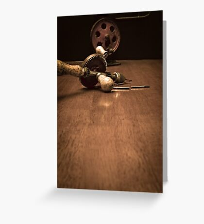American Made Woodworker Gear Driven Hand Drill Greeting Card