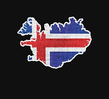 Iceland flag map Unisex T-Shirt