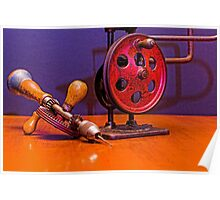 American Made Woodworker Gear Driven Hand Drill Poster