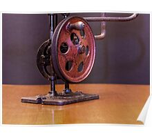 American Made Retro Hand Powered Scroll Saw Poster