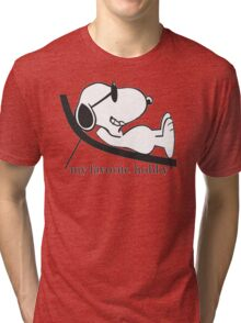 shirker snoopy Tri-blend T-Shirt