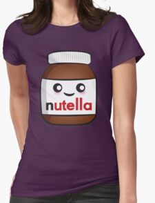 Nutella face 2 Womens Fitted T-Shirt