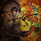 Naruto And Sasuke (Grunged) by stavastator