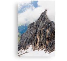 Mount Marmolada in northeastern Italy. The highest mountain of the Dolomites  Canvas Print
