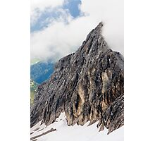 Mount Marmolada in northeastern Italy. The highest mountain of the Dolomites  Photographic Print