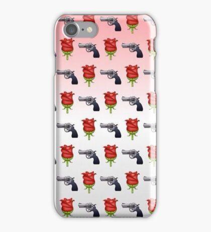 Guns and Roses Emoji Pattern  iPhone Case/Skin