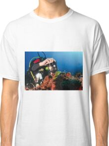 Scuba diver underwater photography in the Mediterranean seabed  Classic T-Shirt