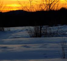 Marianna Pa Winter Sunset Sticker