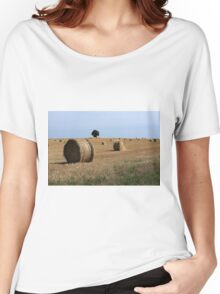 Straw Bale Field Women's Relaxed Fit T-Shirt