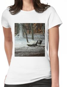 Winter Bench Womens Fitted T-Shirt