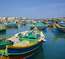 Maltese Fishing Boats by CBenson