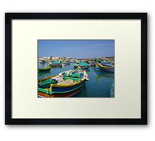 Maltese Fishing Boats Framed Print