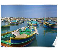 Maltese Fishing Boats Poster