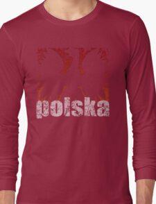 Polish Eagle Flame t shirt Long Sleeve T-Shirt