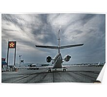 Airport at Dusk Poster